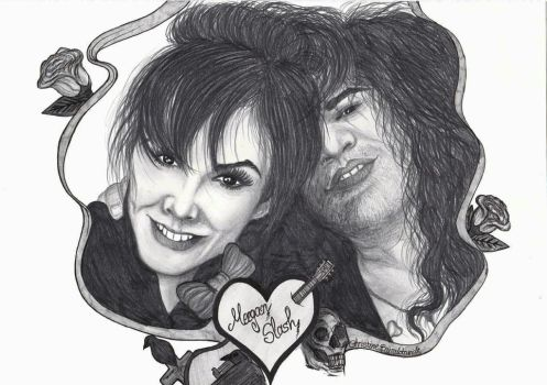 Slash and Meegan by ChristinePresley