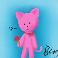kitty, 1st time with paint tool Sai by Blakey-mads