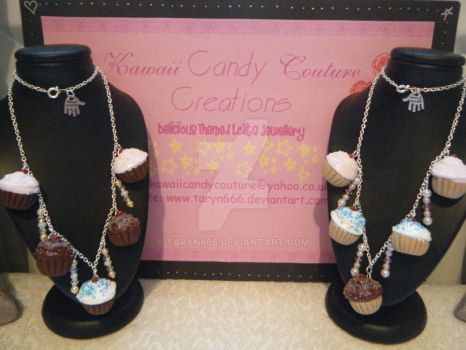 Deluxe Cupcake Charm Necklaces by Taryn666