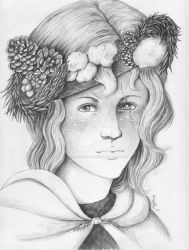 Scarred Faun Girl in Winter by MsAlayniousCreations