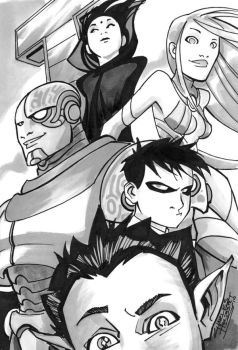 Teen Titans by KidNotorious