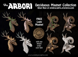 The Arbori : Deciduous Magnet Collection by emilySculpts