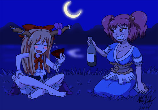 Touhou Much to Drink by AdamTTnJ