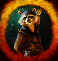 Groot and Rocket Raccoon by zinst