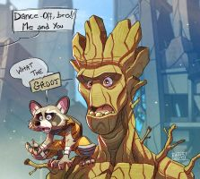 Rocket and Groot by Javas