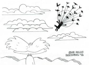 INKTOBER '16 #7 - And Fly Toward The Sun by Clockchat