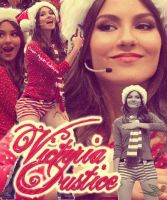 Blend Gif Victoria Justice Christmas by SuperstarElevate