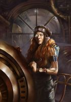 steampunk mechanic by g-ae-l