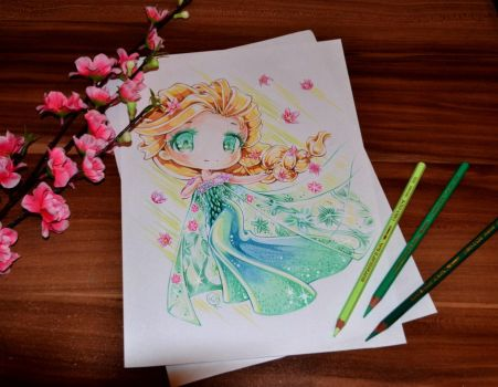 Frozen Fever Chibi Elsa by Lighane