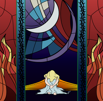 Stained Glass Ariana by DisneyPsycho