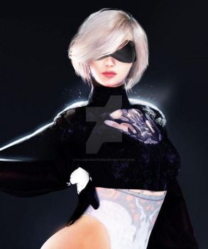 2B Female 3D Model VR / AR / low-poly 3D model