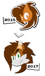 NeoHF| Logo Comparison 2014-2017 by Neo-the-Hedgefox