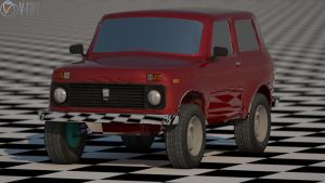 low poly lada niva WIP 1 by chrbet