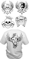 Vector t-shirt layouts by artamp