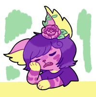 sleepy flower by leaffkun