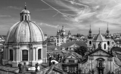 Over the roofs of Prague I by pingallery