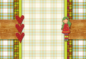 lovely girl layout by MikaVKlover