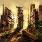 Post Apocalyptic Scene.... by MilanPad