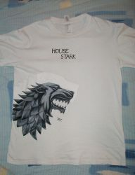 House Stark t-shirt, Winter is Coming by croatian-artist-girl