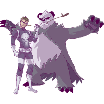 Punisher and Goronda | Pangoro Commission by AutobotTesla