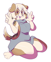 Furry sweater by norithecat