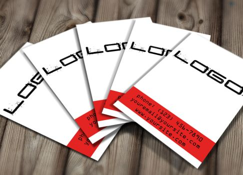 Red Black Business Card by jeffmcc1