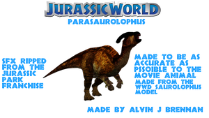 Parasaurolophus Jurassic World Remake by GorgonGorgosaurus