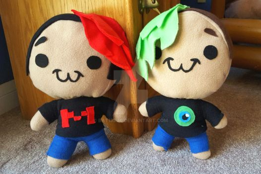 Markiplier and Jacksepticeye Plushies by Bat13SJx