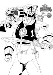 Toni Gutierrez Art power ranger blanco INKS 2 by Lion542