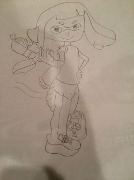 Inkling diaper girl by AdamThePredator