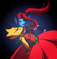 Revolutionary Girl Undyne by Miss-Lizzifer