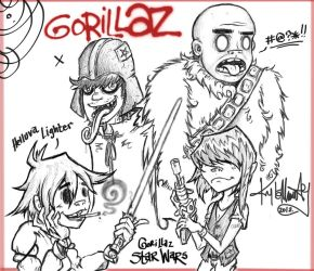 Star Wars Gorillaz by SommaDAT