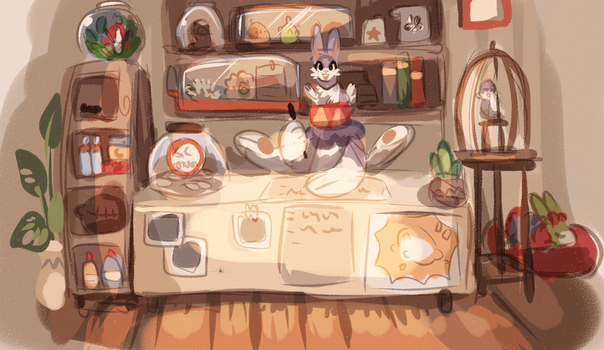 Pet shop Banner WIP by griffsnuff
