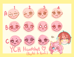 [UNLIMITED SLOT] Chibi Headshot YCH by nayanachi