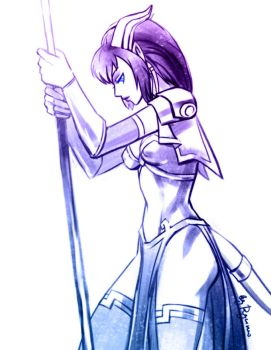 WoW: Monara sketch by ryumo