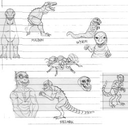Game monster sketches #2 by CosbyDaf