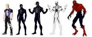 Eddie Brock redesign evalution by shorterazer