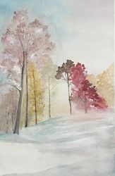 Winter trees by Jennyben