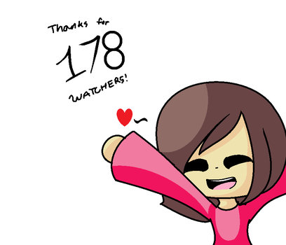 Thanks For 178 Watchers! by Ione7Marie7