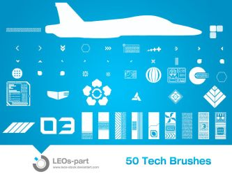 50 Tech Brushes by LEOs-stock
