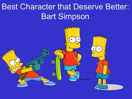 Best Character That Deserve Better: Bart Simpson by Bart-Toons
