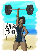 Quick Sketch: Queen of the Beach by Coonfoot