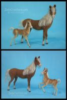 Needle Felted Haflinger Horse and Foal. by ZadaCreations