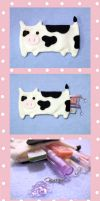 Cow Pencil Pouch by uglykat
