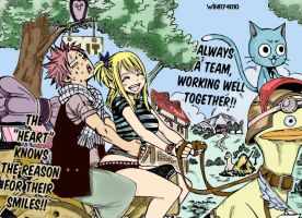Natsu and Lucy Coloorring :3 by Winry4010