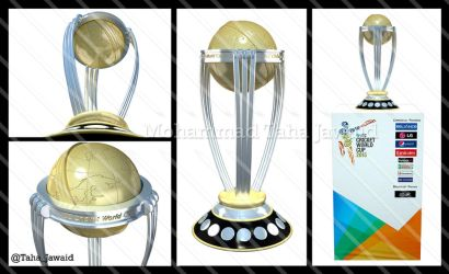 ICC Cricket World Cup 2015 Trophy 3D Model by TahaJawaid