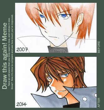 Meme: Before and After // SETO KAIBA by RavenTears