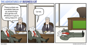 The Adventures of Business Cat - Productivity by tomfonder
