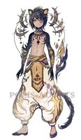 [CLOSED] adopts auction - Golden Night by Polis-adopts
