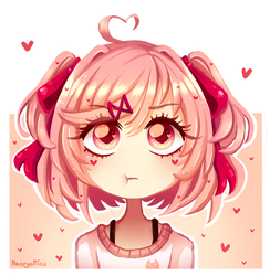[DDLC] Adorable Little Natsuki by NecryoNics